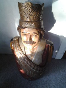 Half male ship style figurehead - the late 19th to early 20th century