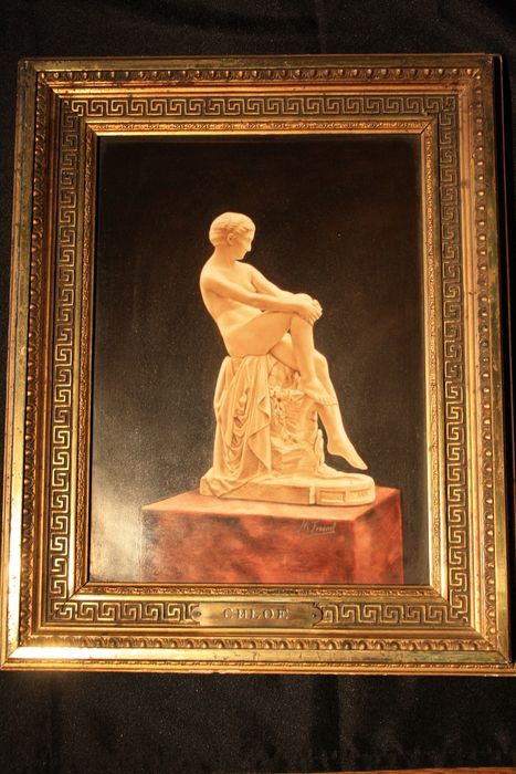Limoges - Rare painting on porcelain, signed