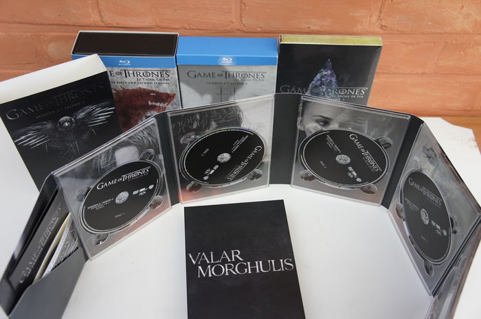 Game of Thrones - all 50 episodes of the first 5 seasons in DVD/ Blu