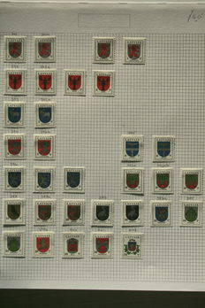 Latvia 1991/2003 and Lithuania 1991/2001 - collection on leaves