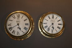 Two Smiths ship's clocks