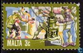 Postage Stamps - Malta - Economic development