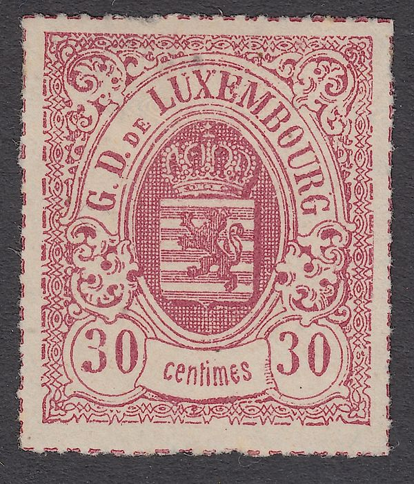 Luxembourg 1871 - National coat of arms - Prifix 21