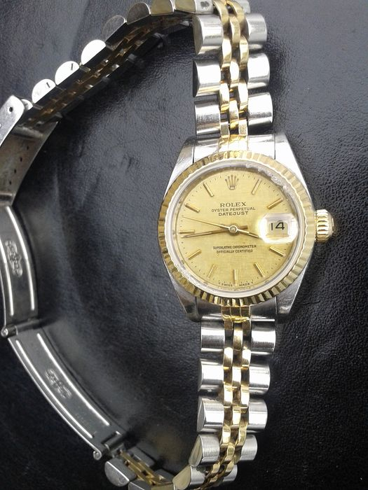rolex oyster perpetual datejust damenuhr 1989 catawiki. Black Bedroom Furniture Sets. Home Design Ideas
