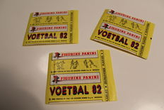 Panini - Voetbal 82 - 3 original unopened packets of the Dutch league 1981-1982 - Printed in Italy By Edizione Panini S.p.A. MODENA