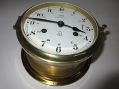 Vintage German A. Schatz Royal Mariner 8 day ship's clock with bell and key