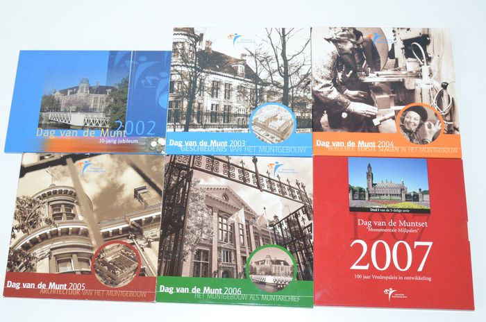 "Netherlands - year set 2002/2007 ""Coin Day"" (6 pieces)"