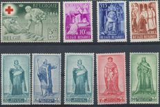 Belgium 1894/1965 - Selection of stamps and series