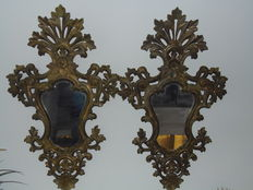 Great pair of 19th century baroque style cornucopia