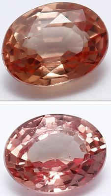 2 Padparadscha sapphires - 0.25 ct and 0.25 ct. = 0.50 ct. Total - No Reserve