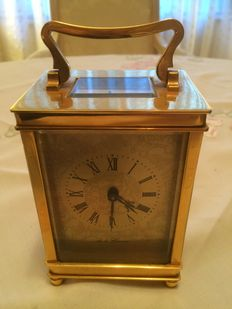 "Carriage Clock - Name on Dial  ""De la Drense"" - circa 1900."