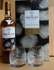 Macallan Gold Limited Edition with 2 Glasses 40%vol, 700ml