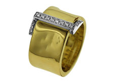 Hand Made Contemporary 1.2cm wide Men's Designer's Diamond Ring, As New