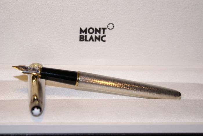 stylo mont blanc meisterstuck argent massif