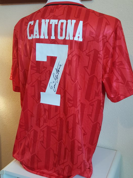080f52966f2 Eric Cantona - Official retro Manchester United 1994 FA Cup Final Jersey  no. 7 -