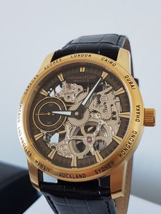 Calvaneo Skeleton Gold ll – men's wristwatch – never worn
