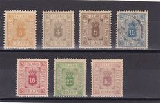 Iceland 1896/1930 - Official stamps , King Christian IX and numeral stamps - a small collection
