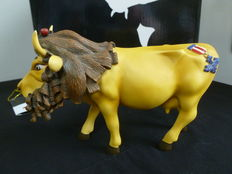 Rare figurine Vach'art - Cow Parade  Wizard of Oz - Cowardly Lion Cow of Jeff A. Tackett