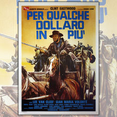 For a Few Dollars More - Original Italian movie poster - 80s edition - 100x140cm - Clint Eastwood & Lee van Cleef