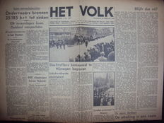 Liberation; Lot with 25 war newspapers from the time around the liberation - 1944/1945