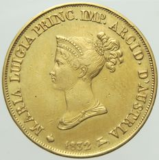 Duchy of Parma - 20 Lire gold coin, 1832 - Marie Louise