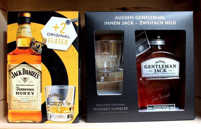 2 bottles - Jack Daniels, Gentleman Jack with Tumbler (New Limited Edition) +