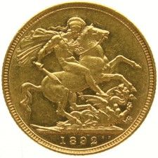 Australia – Sovereign 1892-M Melbourne – Victoria – gold
