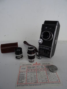 Vintage 8 mm camera PAILLARD BOLEX + 2 lenses + UNITTIC light meter