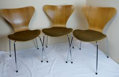 Arne Jacobsen for Fritz Hansen - 3 original butterfly chairs, series 7.
