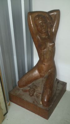 Sculpture; mermaid - 20th century.