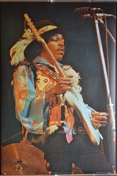 Jimi Hendrix - Live concert poster - picture by David Redfern