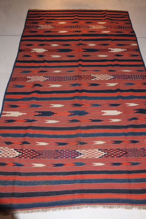 YOMUTH - KILIM, ANTIQUE, TURKMENISTAN AROUND 1910