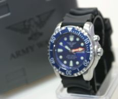 Blue army watch, Germany, made by Eichmüller, diver's watch, 1000 m - men's wristwatch