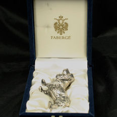 Faberge - Sterling Silver Cocker Spaniel Figurine in Gift Box