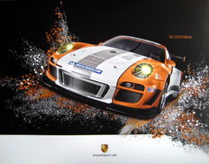 Poster - Porsche 911 GT3 R Hybrid - The Future of Sportscars