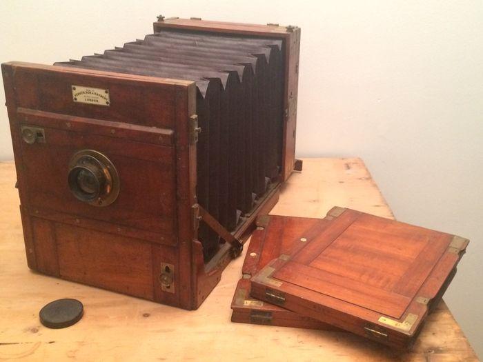 The auction you are viewing has now ended & Very large Perken \u0026amp; Son London Tailboard Full plate wet plate ...