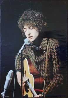 Bob Dylan - Live at the Paris Olympia ('66) concert poster - photograph by Jean-Pierre Leloir