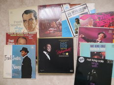 Frank Sinatra, Nat King Cole; lot of  fifteen (15) LP's from the sixties and early seventies