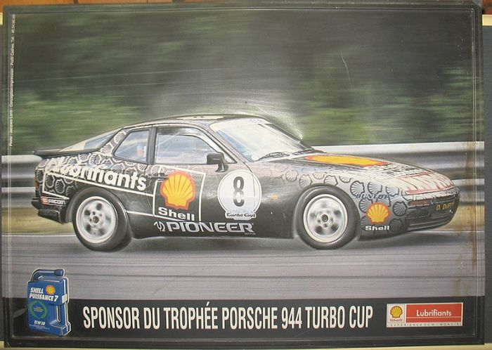 porsche 944 turbo cup advertising shell thermo relief 70 x 50 cm catawiki. Black Bedroom Furniture Sets. Home Design Ideas