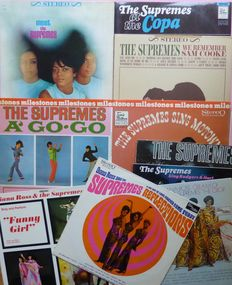 """Vintage records of Diana Ross & The Supremes, 10 early albums, including their rare first album """"Meet The Supremes"""" all on (Tamla) Motown, VG+/VG+"""