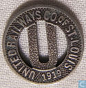 USA - St Louis, MO  United Railways Co Token  1919