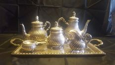 Great sterling silver coffee set. Spain.