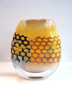"Maxence Parot - Unique creation massive ""Honeycomb"" Vase (signed/dated)"