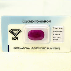 Ruby – 8.53 ct