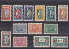 Lithuania 1921/24 - Air Post stamps , Black Horseman , surcharged stamps - a small collection