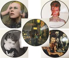 David Bowie Awesome & Very Collectable Lot Of Five Picture Disc LP's