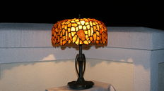 Polish handmade big Natural Baltic Amber lamp.