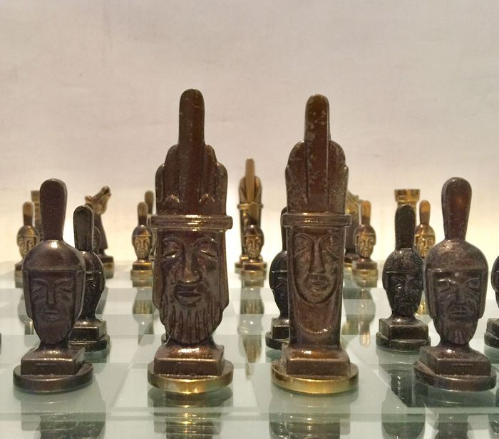 Medieval bronze chess