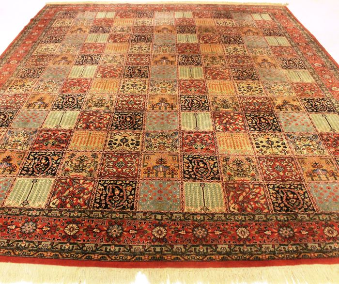 Old Hand-woven Persian Carpet Fields And Gardens Kayseri
