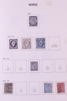 Scandinavia 1856/2000 – Batch in 2 DAVO albums and 3 stock books.